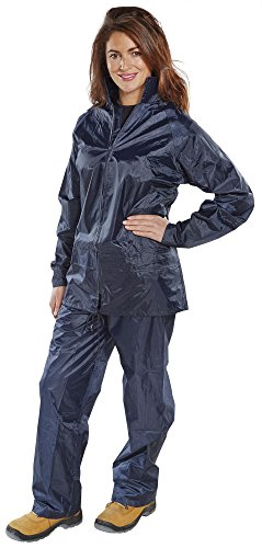 Traje impermeable, de nailon, color azul marino, XL B Dri Weatherproof