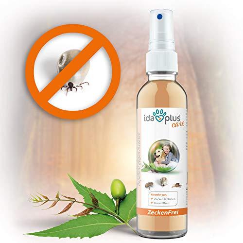 Ida Plus – Zeckenfrei 200 ml – Zeckenspray gegen Zecken, Mücken, Flöhen, Grasmilben & Parasiten – Zeckenmittel für Hunde – Anti Zecken Insektenspray mit Margosa & Nelken-öl für besten Insektenschutz