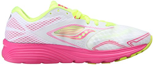 Saucony Kinvara 7, Chaussures de Running Compétition Femme White/Pink