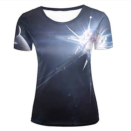 Mens Womens 3d Print T Shirtsglowing Planet Graphic Fashion Couple Tees Top Short Sleeve M (Tee Sleeve Bamboo Short)