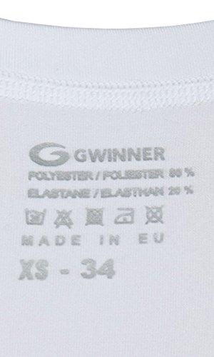 gWinner Maillot sous-vêtement culotte Fitness Femme sous-vêtements fonctionnels Short Ultra confortable Perfect Fit–Fabriqué en UE Blanc