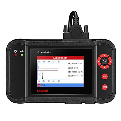 Launch Creader VII + ABS SRS Motor Getriebe OBD2 Codeleser Auto Diagnose Scanner Tools Clearing Fahrzeug Fehlercodes und lesen Live-Daten-Unterstützung für alle 10 Test-Modi