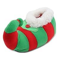 SlumberzzZ Kids Plush Novelty 3D Christmas Elf Slippers