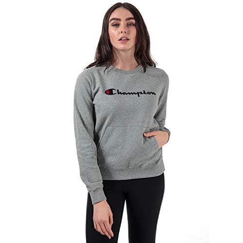 Champion Reverse Weave Damen Sweatshirt Crewneck, Grau (Oxgm Em006) Medium