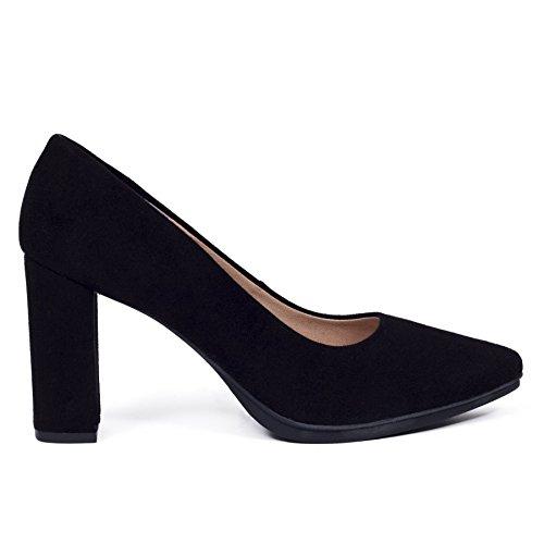 376c7fe3 Zapato Tacon Mujer Negro 7cm. Colección Verano 2018. Talla 35 hasta Talla 42 .