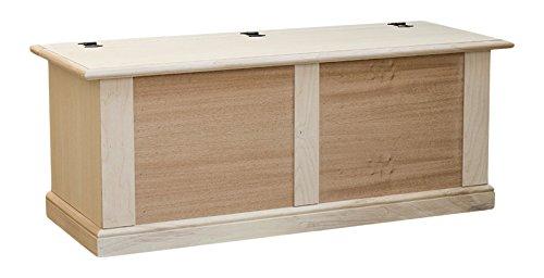 Pieffe mobili am21 cassapanca grezza, legno, beige, 120x42x50 cm