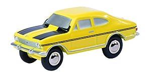 Schuco 450574500 - Piccolo Opel Kadett Coche de Rally y Modelo de tráfico, Amarillo / Negro
