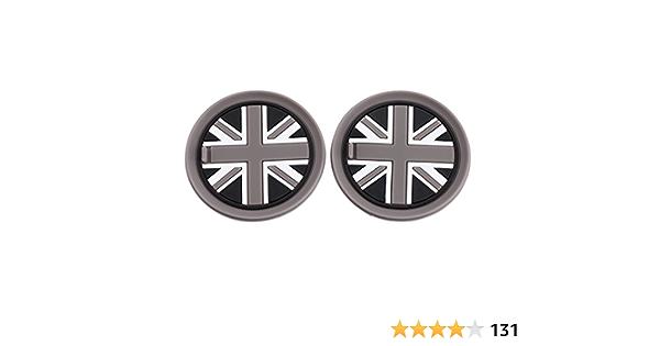 Topdeco Black Union Jack Uk Flag Style Soft Silicone Cup Holder Coasters Auto