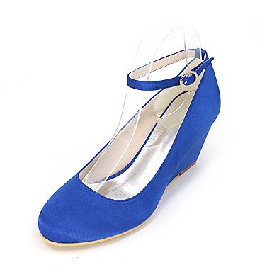 Zormey Sandales Femmes Chaussures Club Printemps Été Robe Pu Talon Bas Décontracté Fermeture Éclair Boucle US9 / EU40 / UK7 / CN41