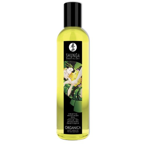 SHUNGA erotisches Massageöl Biologisch - Grüner Tee -