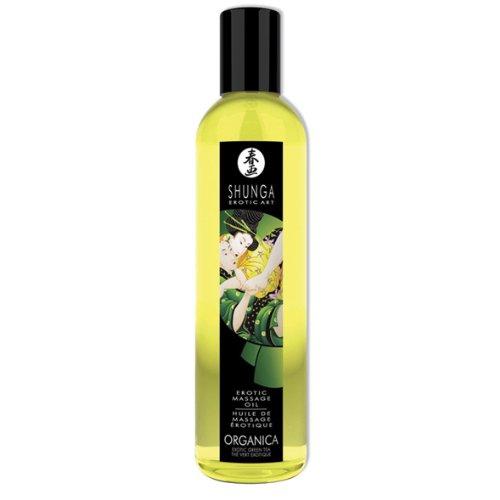 shunga-huile-de-massage-biologique-the-vert-250-ml