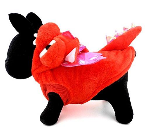 ranphy Pet Hund Katze Halloween-Kostüm Drachen Kostüm für Hunde Tier Fancy Coat Outfits (unter 20lbs) Run Kleine, Bitte den nächsten bis Größe auf der - Der Top Halloween-outfits 20