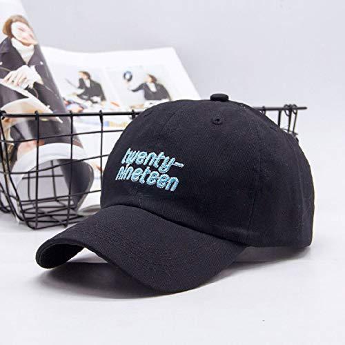zlhcich Hut weiblich lässig Wilde Straße Stickerei Sommer Visier Baseball Cap 2019 Englisch schwarz einstellbar -