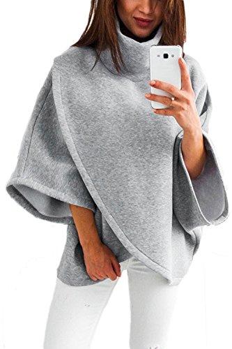 Un Pull Col Irrégulière Des Vêtements Sweat - Shirt Haut De La Page Grey