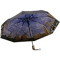 Ombrello automatico vinile pittura a olio xagoo® ombrello pieghevole artistica, fibra di vetro rinforzata di 8Coste tecnologia Anti UV, viola
