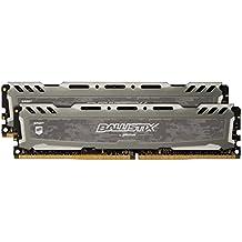 Ballistix Sport LT BLS2K4G4D240FSB8 GB - Kit de Memoria RAM de 8 GB (4 GBx2, DDR4, 2400 MT/s, PC4-19200, CL16, Single Rank x8, DIMM, 288-Pin), Gris