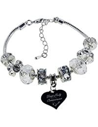 Nan Heart Charm For European Style Charm Bracelets With Truly Charming Sparkle Collection Presentation Gift Box BrluBBt