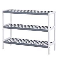 SONGMICS Bamboo Shoe Rack, 3-Tier Storage Shelf,ideal for Hallway, Bathroom, Living Room and Corridor