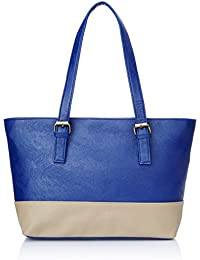 Alessia 74 Women's Tote Bag (Blue and Beige)