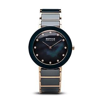 BERING Reloj Analógico para Mujer de Cuarzo con Correa en Acero Inoxidable 11435-767