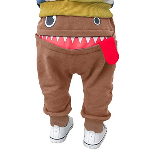 i-uend Baby Pants - Baby Kinder Kinder Jungen Mädchen Cartoon Shark Zunge Harem Hosen Hosen Hosen für 0-3 Jahre (12-18 Months(85-90CM), Khaki)
