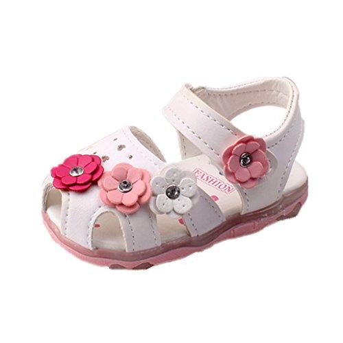 Baby Schuhe Auxma Baby Mädchen Sonnenblume Sandalen beleuchtete Soft-Soled Prinzessin Schuhe (6-12 M, WW)