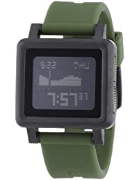 Nixon Herren-Armbanduhr The Housing Matte Black / Surpl Digital Quarz Silikon A1571042-00
