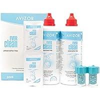 Líquido de lentillas AVIZOR EVER CLEAN 2 x 350 ml. Solución para limpieza y desinfección de todo tipo de lentes de contacto.