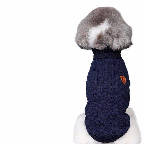 Le chien Bichon Chihuahua tactique chandails, Hiromi petit chien, puppy dog clothes en hiver, automne et hiver animaux domestiques,E,L- buste 38-43cm (Petite Coat Pullover)