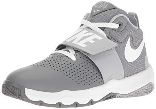 Nike Jungen Team Hustle D 8 (GS) Basketballschuhe, Mehrfarbig (Cool Wolf Grey/White 005), 38 EU
