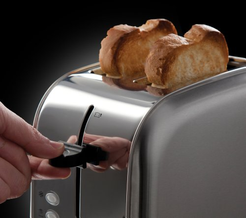 Russell Hobbs Futura 2-Slice Toaster 18780 – Stainless Steel Silver