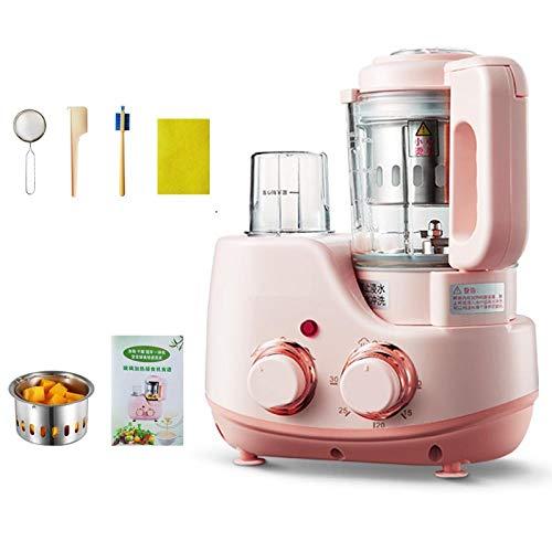 Suplemento de alimentos para bebés cocinar y mezclar molinillo de bebé jugo de vidrio cocinar puré de frutas triturador-Rosa