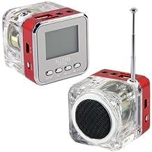 Mini Altavoz Portátil Tarjeta Memoria MP3 iPhone iPod iPad TV FM LIN IN
