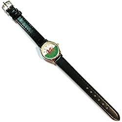 Wales Welsh Flag Ladies Leather Strap Watch [wx67]