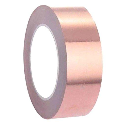 ELECTROPRIME® 30mm Copper Foil Tape EMI Shielding Conductive Adhesive for Electric Guitar