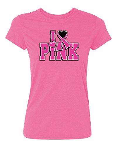 P & B camiseta mujer I Love rosa Campaña contra cáncer