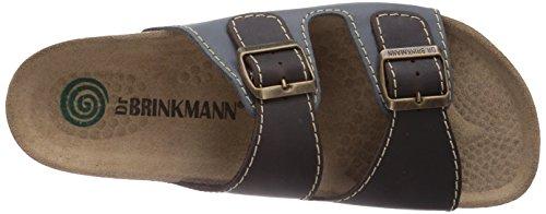 Dr. Brinkmann 600308, Chaussures de Claquettes homme Bleu - Blau (Jeans/Mokka)