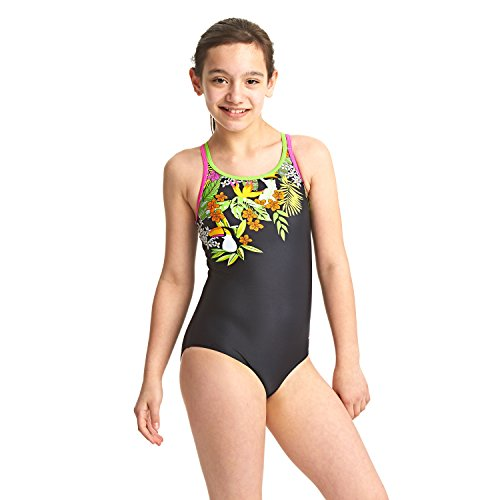 Zoggs Girls' Paradise Double X Back Swimsuit