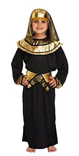 Kinder Jungen Ägyptischer Pharao schwarz Kleid King Kinder Fancy Dress Party Kostüm