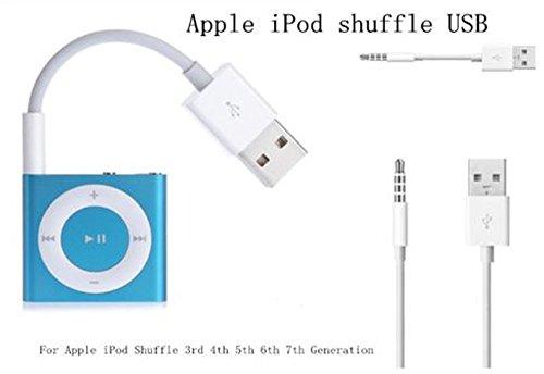 2en 1Shuffle USB Sync Charger câble adaptateur pour iPod Shuffle 3ème, 4ème génération