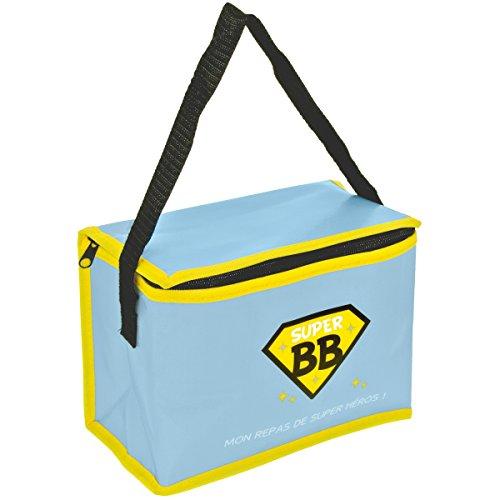 Promobo - Lunch Bag Enfant Sac Repas Isotherme Super Bébé Repas De Super Héros Bleu