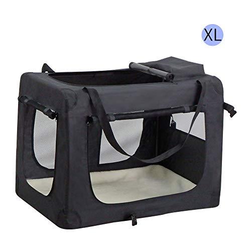 Wellhome trasportino morbido per cani e gatti borsa cane pieghevole piccola animali contenitori da trasporto gatto domestici portatile xl: 82x58x58cm nero