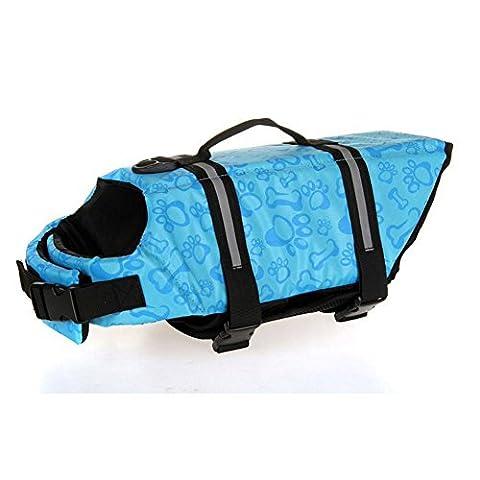 Westeng Pet Hundeschwimmweste Schwimmweste Badeanzug im Freien (Chihuahua Badeanzug)