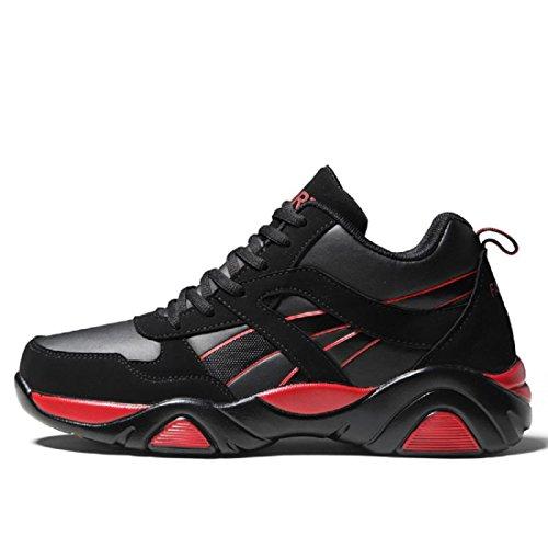 Uomo Scarpe sportive Moda Scarpe da corsa Leggero Confortevole formatori Antiscivolo È aumentato Scarpe casual euro DIMENSIONE 39-44 red