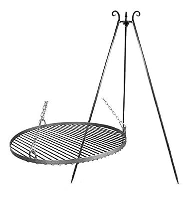 """Schwenkgrill Dreibein Stahl 50cm inkl. Feuerschale """"Pan 33"""" 60cm"""