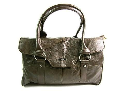 The Leather Emporium , Sac pour femme à porter à l'épaule Marron foncé