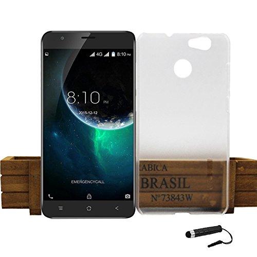 Tasche für Blackview E7 Hülle, Ycloud Handy Backcover Kunststoff-Hard Shell Case Handyhülle mit stoßfeste Schutzhülle Smartphone Weiß Transparent