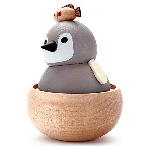 Boîte à musique en Bois Massif De Dessin Animé Cadeau D Anniversaire D Anniversaire De La Penguin Cadeau De Fête