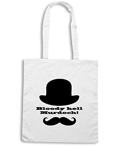 T-Shirtshock - Borsa Shopping OLDENG00194 murdoch mysteries brackenreid Bianco