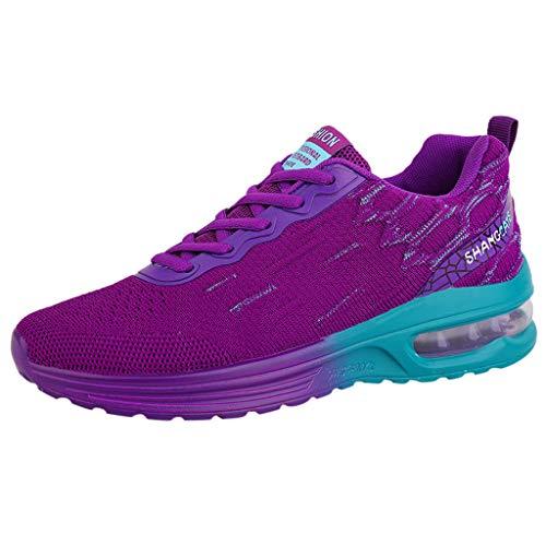 JJggsi4_Scarpe Colorate da Donna in Maglia Traspirante con Fondo a Cuscino d'Aria Scarpe da Atletica Leggera Donna Scarpe da Ginnastica Unisex Corsa Sportive Running Sneakers Casual all'Aperto